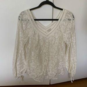 NWOT hinge lace blouse